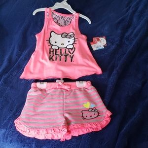 Hello Kitty girls tank and short set